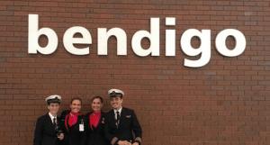 Bendigo Airport Qantas flight
