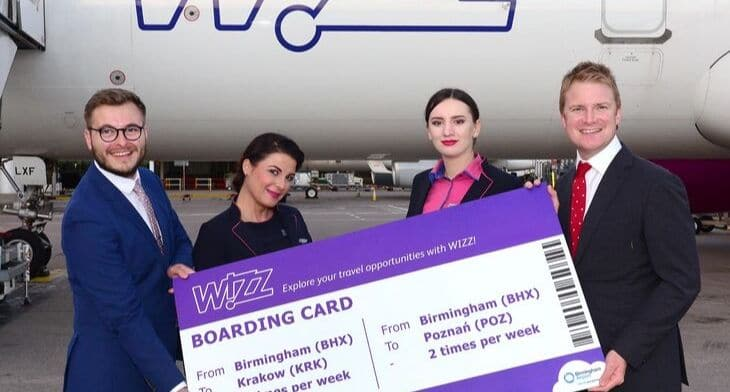 'Wizzing' off to Poland from Birmingham