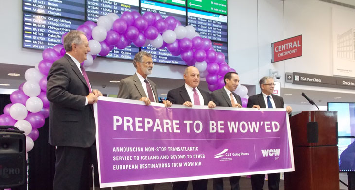 Cleveland Airport welcomes low-fare transatla..
