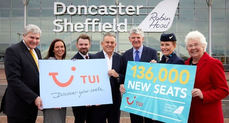 TUI announces expansion at Doncaster Sheffield Airport
