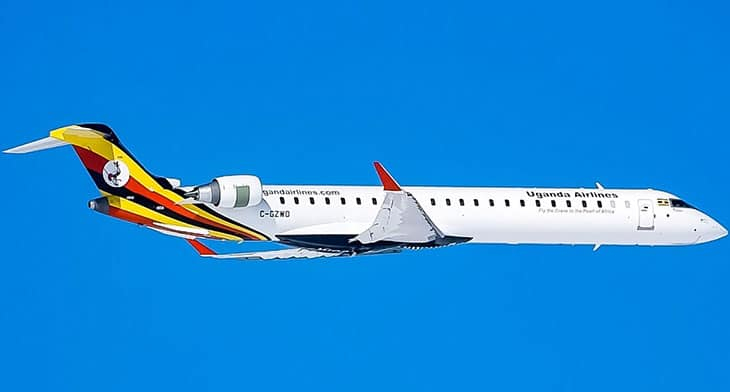 Uganda Airlines gets its first CRJ