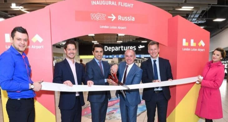 London Luton gains new service to Russia with Wizz Air