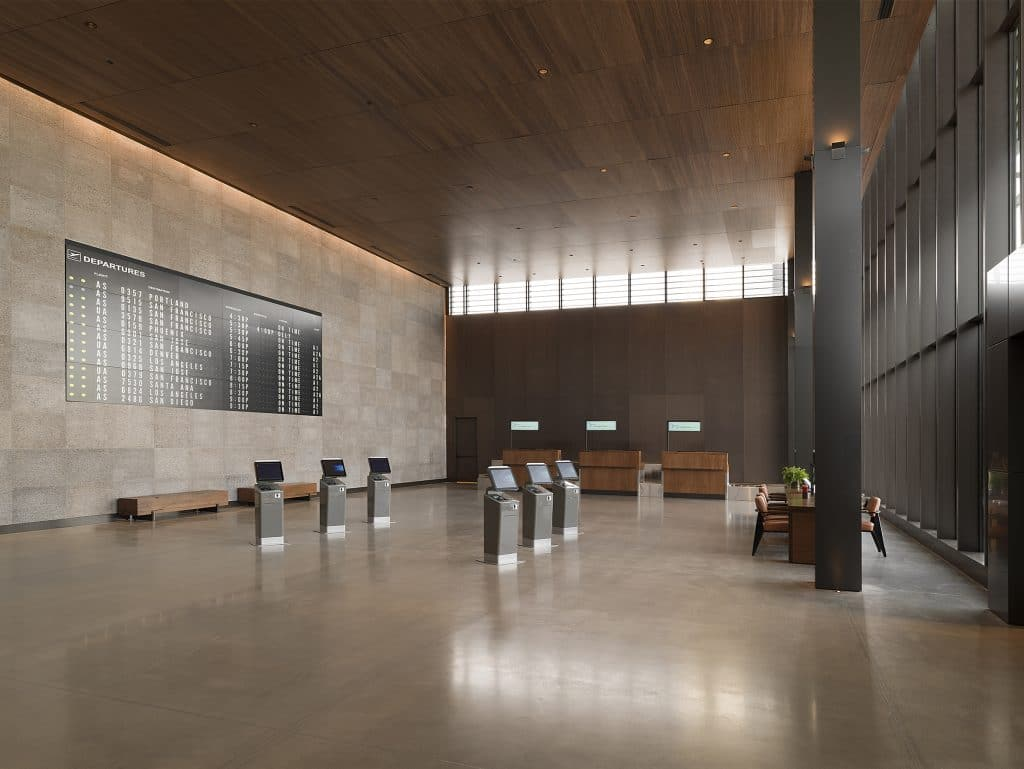 Paine Field Passenger Terminal check in