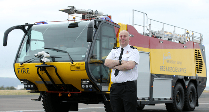 Belfast City takes delivery of new fire-fighting vehicle