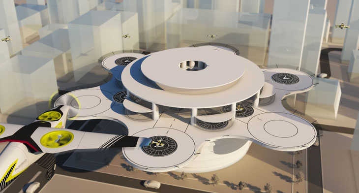 Groupe ADP reveals futuristic vertiport model