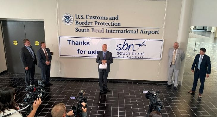 South Bend Airport opens new customs and bord..