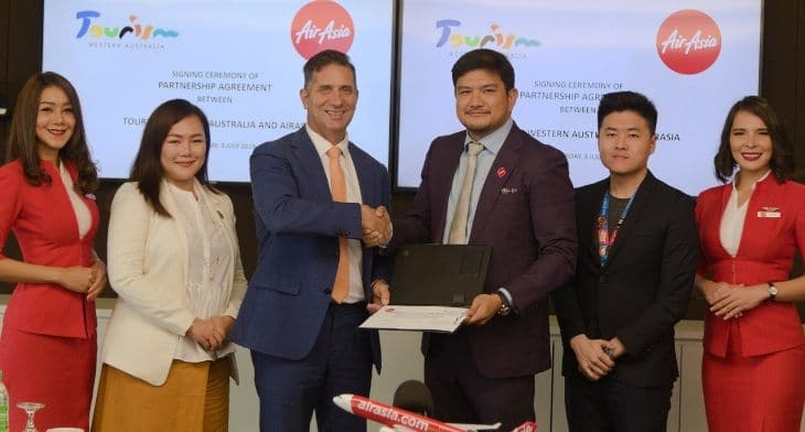 Western Australia teams up with AirAsia for marketing push