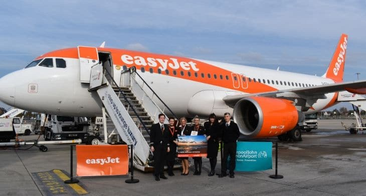 easyJet connects Tenerife with Liverpool