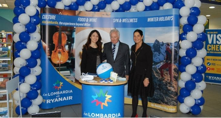 Lombardy region teams up with Ryanair in prom..
