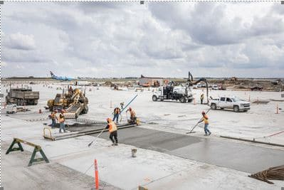 Calgary Airport concrete project