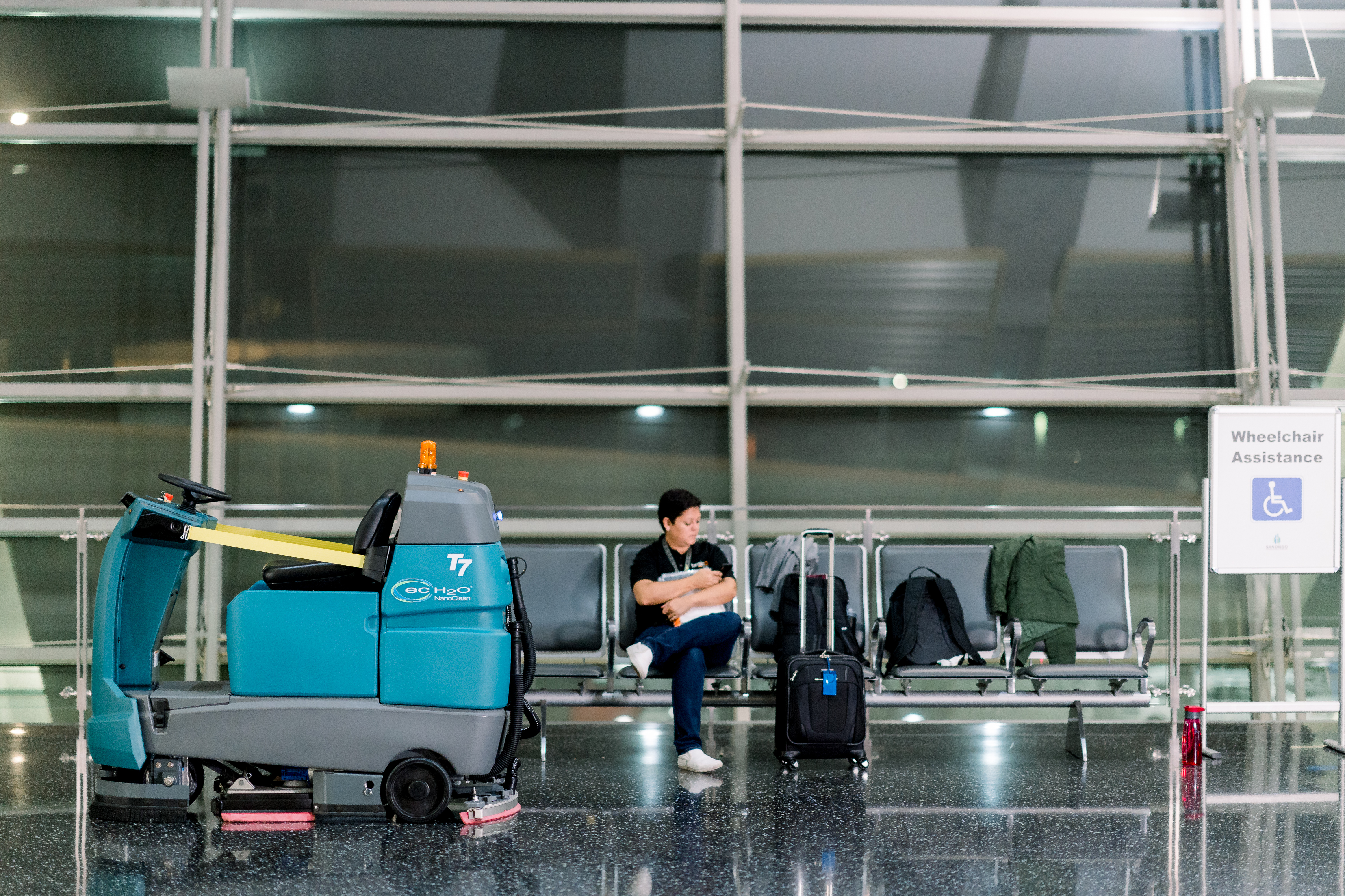 Fleet of cleaning robots to keep airports safe