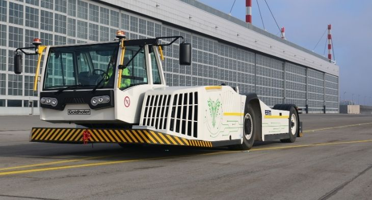 Goldhofer's Phoenix E towbarless aircraft tractor passes test phase with flying colours