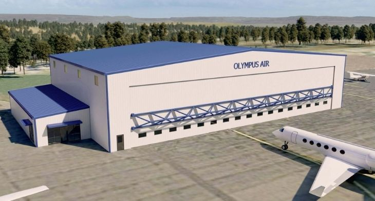 Hazleton Regional Airport prepares for opening of Olympus Air hangar