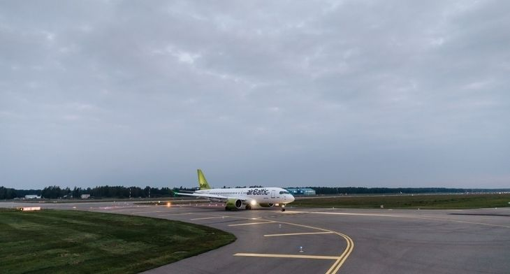 Riga Airport's rapid exit taxiway now open for aircraft operations
